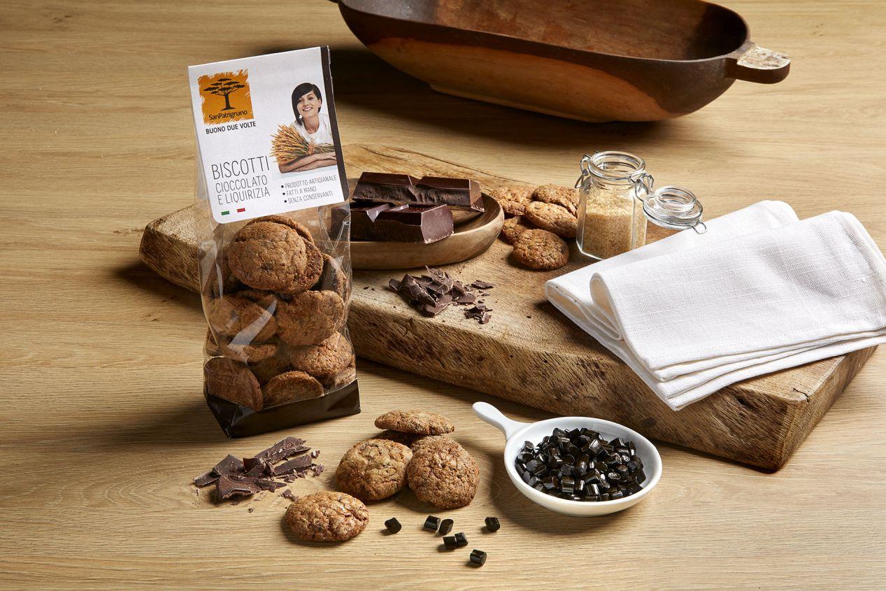 Biscotti cioccolato e liquirizia - 250gr