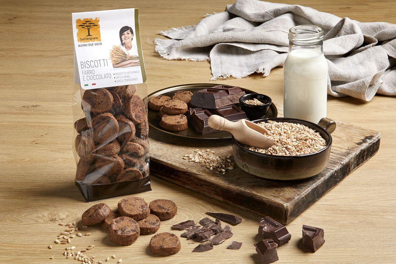 Biscotti farro e cioccolato - 250gr