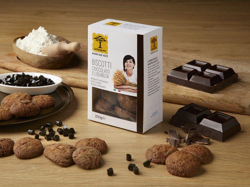 Biscotti cioccolato e liquirizia